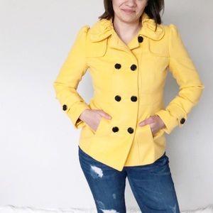 Women's Hydraulic Yellow Pea Coat